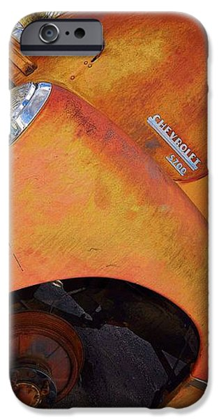 Rusted Out Chevrolet 5700 iPhone Case by Liane Wright