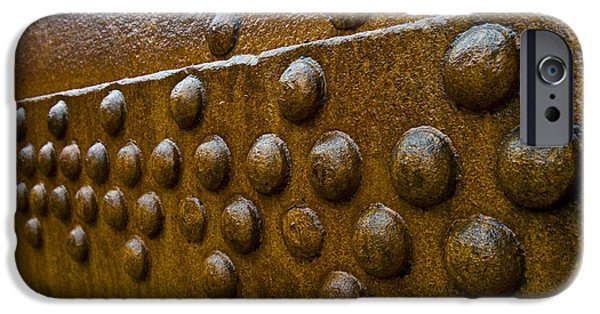 Rust iPhone Cases - Rusted Whaling Machinery iPhone Case by John Shaw