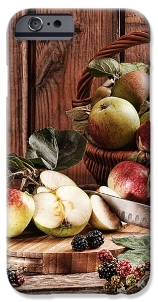 Black Berries iPhone Cases - Rustic Apples iPhone Case by Amanda And Christopher Elwell