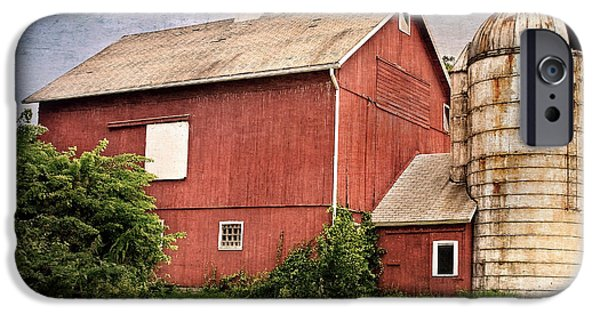 Silos iPhone Cases - Rustic Barn iPhone Case by Bill  Wakeley