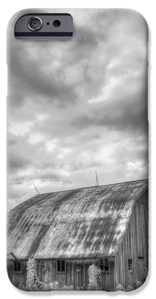 Old Barns iPhone Cases - Rustic Barn iPhone Case by Jane Linders