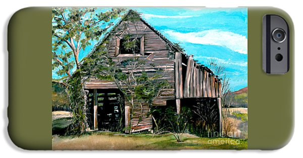 Old Barns iPhone Cases - Rustic Barn - Mooresburg - Tennessee iPhone Case by Jan Dappen