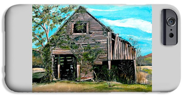 Old Barn iPhone Cases - Rustic Barn - Mooresburg - Tennessee iPhone Case by Jan Dappen