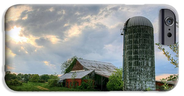 Maryland Barn Photographs iPhone Cases - Rustic iPhone Case by JC Findley