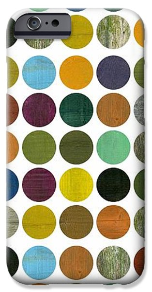 Colorful Abstract iPhone Cases - Rustic Rounds 75 Number Two iPhone Case by Michelle Calkins