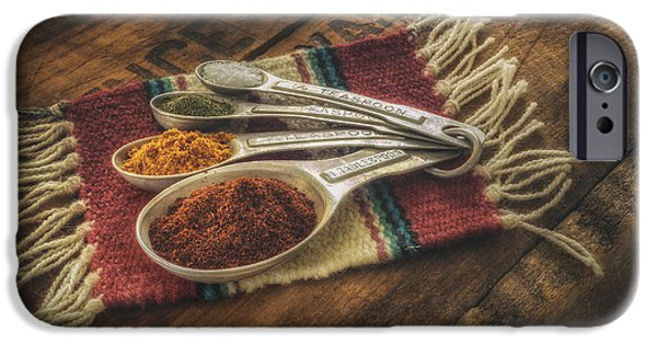 Chili iPhone Cases - Rustic Spices iPhone Case by Scott Norris