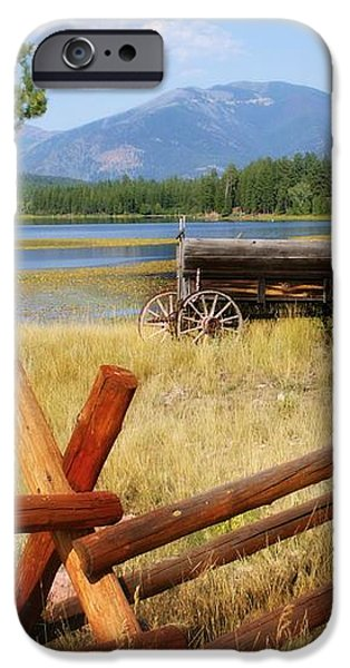 Rustic Wagon iPhone Case by Marty Koch