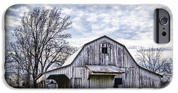 Wooden Building iPhone Cases - Rustic White Barn iPhone Case by Cricket Hackmann