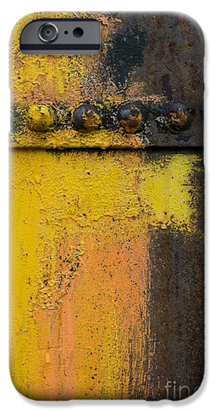 Rust iPhone Cases - Rusting Machinery iPhone Case by John Shaw