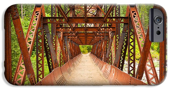 Pathway iPhone Cases - Rusty Bridge iPhone Case by Inge Johnsson