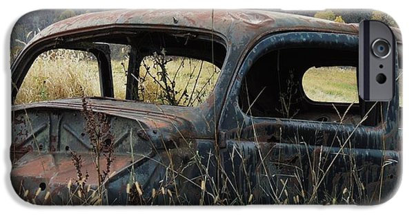 Todd Sherlock Photographs iPhone Cases - Rusty car one iPhone Case by Todd Sherlock