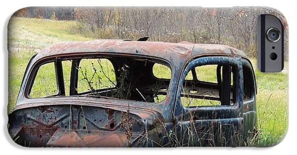Todd Sherlock Photographs iPhone Cases - Rusty car two iPhone Case by Todd Sherlock