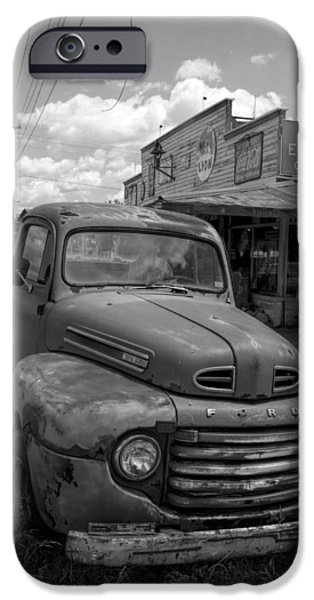 Antiques iPhone Cases - Rusty Classic Ford Pickup Truck iPhone Case by Kathy Clark
