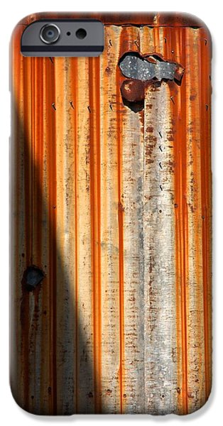 Sheets iPhone Cases - Rusty Corrugated Sheeting iPhone Case by Stuart Litoff