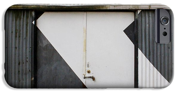 Arrow iPhone Cases - Rusty Door- photographay iPhone Case by Linda Woods
