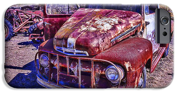 Truck iPhone Cases - Rusty Ford iPhone Case by Garry Gay