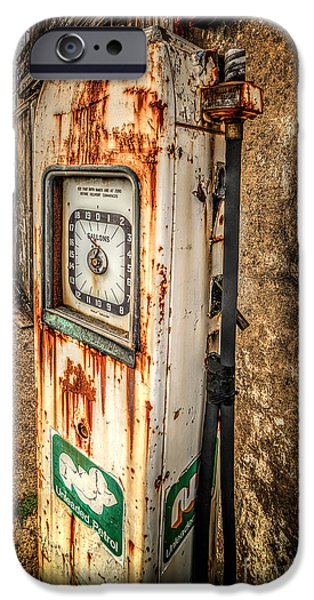 Conway iPhone Cases - Rusty Gas Pump iPhone Case by Adrian Evans
