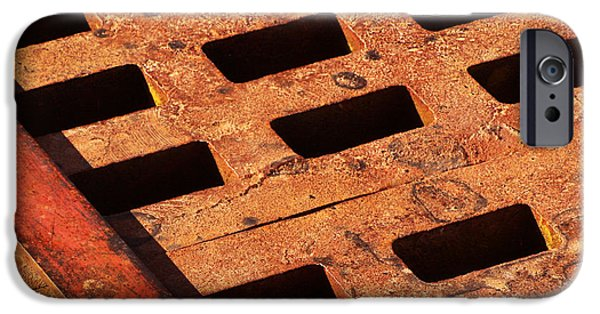 Grate iPhone Cases - Rusty Grate iPhone Case by Art Block Collections