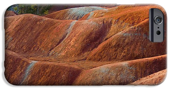 Moonscape iPhone Cases - Rusty Land iPhone Case by Barbara McMahon