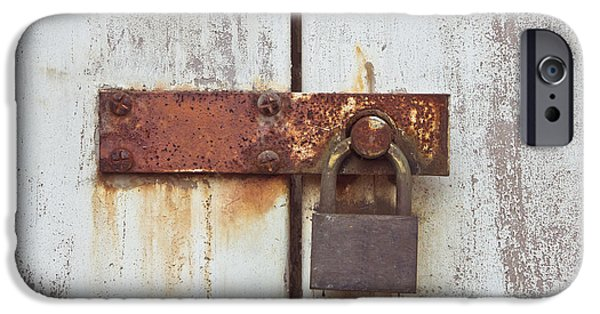 Dirty iPhone Cases - Rusty lock iPhone Case by Tom Gowanlock