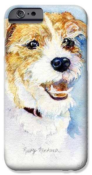 Working Dogs iPhone Cases - Rusty Mortimer iPhone Case by Kimberly McSparran