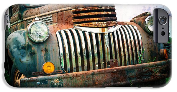 Rusted Cars iPhone Cases - Rusty Old Chevy Pickup iPhone Case by Edward Fielding