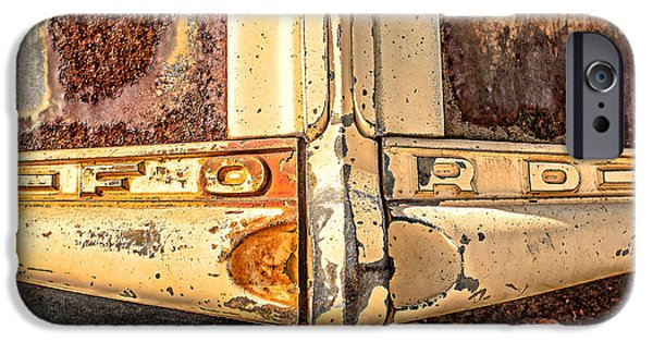 Old Truck iPhone Cases - Rusty Old Ford iPhone Case by Edward Fielding
