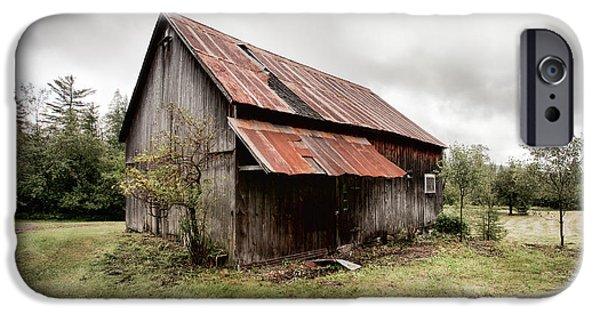 Gary Heller iPhone Cases - Rusty Tin Roof Barn iPhone Case by Gary Heller