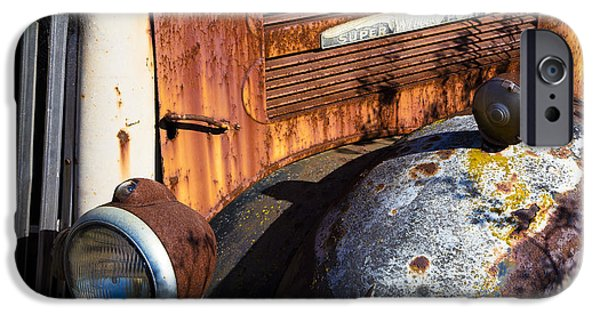 Truck iPhone Cases - Rusty Truck Detail iPhone Case by Garry Gay