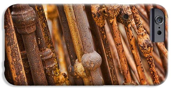Rust iPhone Cases - Rusty Vintage Headboards iPhone Case by Saija  Lehtonen