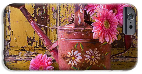 Rusty iPhone Cases - Rusty Watering Can iPhone Case by Garry Gay