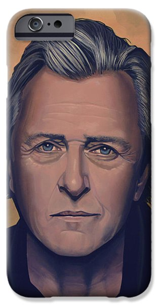 Rutger Hauer iPhone Case by Paul  Meijering