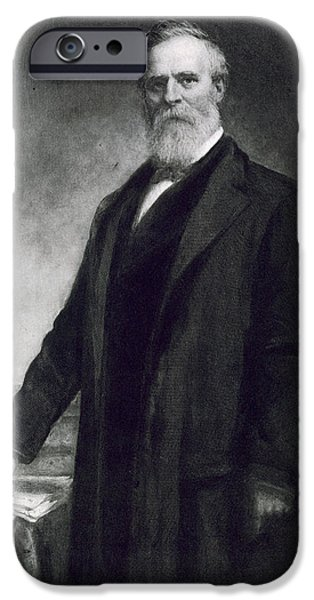 Politics Paintings iPhone Cases - Rutherford B Hayes iPhone Case by Daniel Huntington