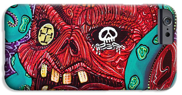 Pirate Ships Paintings iPhone Cases - Ruthless Roger iPhone Case by Laura Barbosa