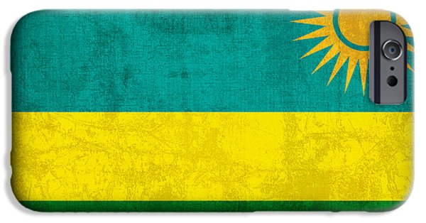 Recently Sold -  - Nation iPhone Cases - Rwanda Flag Vintage Distressed Finish iPhone Case by Design Turnpike