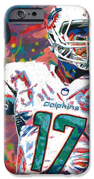 Quarterback iPhone Cases - Ryan Tannehill iPhone Case by Maria Arango