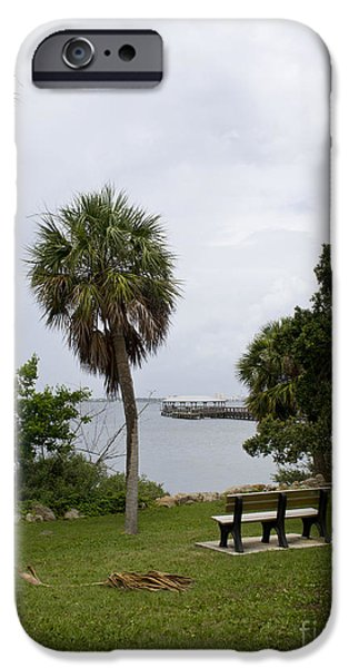Ryckman Park in Melbourne Beach Florida iPhone Case by Allan  Hughes