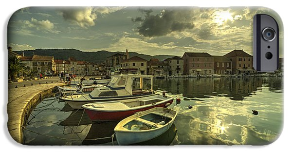 Staris iPhone Cases - Stari Grad Boats  iPhone Case by Rob Hawkins