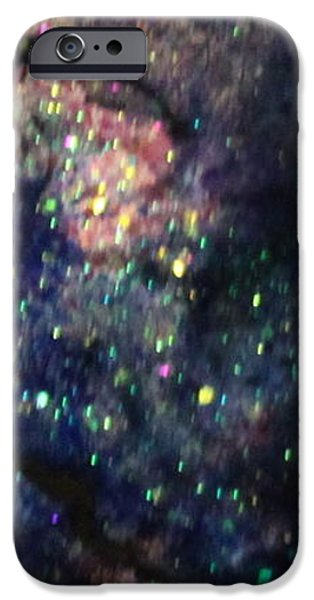 Splashy Paintings iPhone Cases - Sa124 iPhone Case by Kathleen Fowler