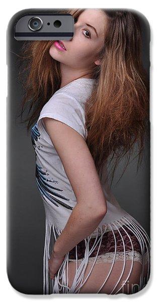 Big Hair iPhone Cases - Sabrina19 iPhone Case by Yhun Suarez