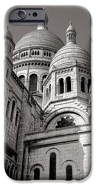 Byzantine iPhone Cases - Sacre Coeur Architecture  iPhone Case by Olivier Le Queinec