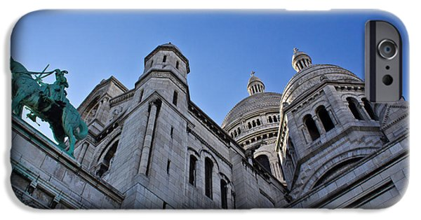 Statue Portrait iPhone Cases - Sacre Coeur iPhone Case by Chris Whittle