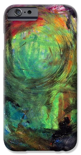 Abstract Expressionist Pastels iPhone Cases - Sacred Canoe Journey iPhone Case by Patrick Morgan
