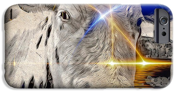 Clarify iPhone Cases - Sacred Cow iPhone Case by Eleni Mac Synodinos