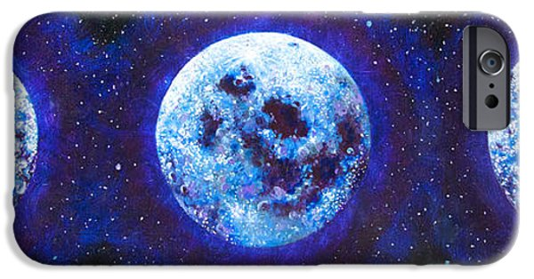 Gallery Sati iPhone Cases - Sacred Feminine Blue Moon iPhone Case by Shelley Irish