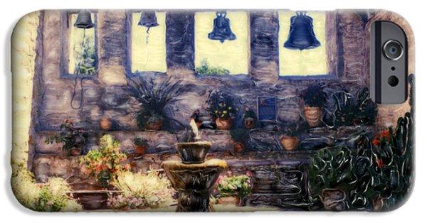 California Tourist Spots iPhone Cases - Sacred Garden of  San Juan Capistrano iPhone Case by Glenn McNary
