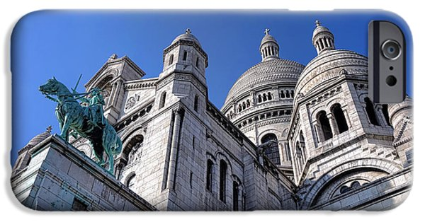 Byzantine iPhone Cases - Sacred Heart Basilica  iPhone Case by Olivier Le Queinec