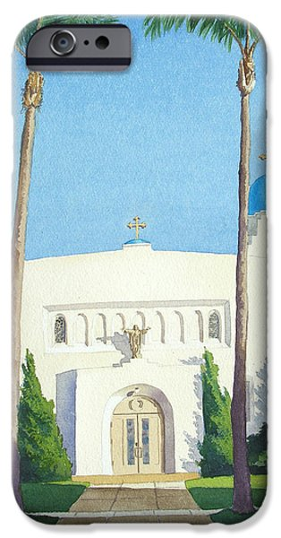 Sacred iPhone Cases - Sacred Heart Church Coronado iPhone Case by Mary Helmreich
