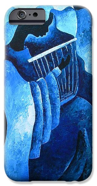 Blue Angel iPhone Cases - Sacred melody iPhone Case by Patricia Brintle