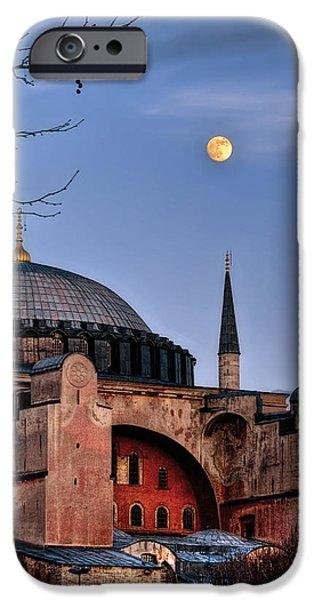 Istanbul iPhone Cases - Sacred Silence Hagiasofia iPhone Case by Leyla Ismet